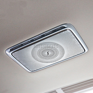 Image 2 - Dla Mercedes Benz C E S GLC klasa W205 W213 W222 X253 akcesoria samochodowe ze stali nierdzewnej tylny rząd lustro do makijażu pokrywa rama wykończeniowa