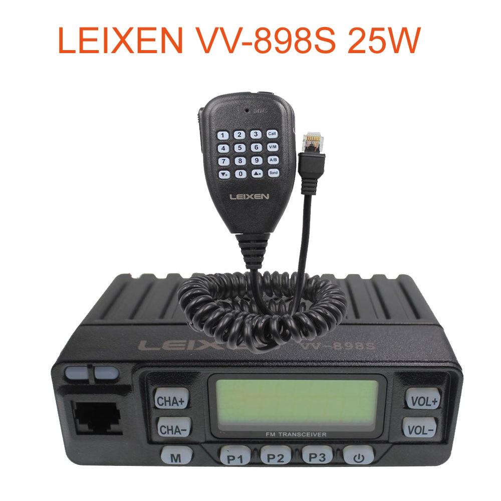 Car Radio VV-898S 25W LEIXEN Dual band 144/430MHz Mobile Transceive Amateur VV898S Ham Radio Two way radio