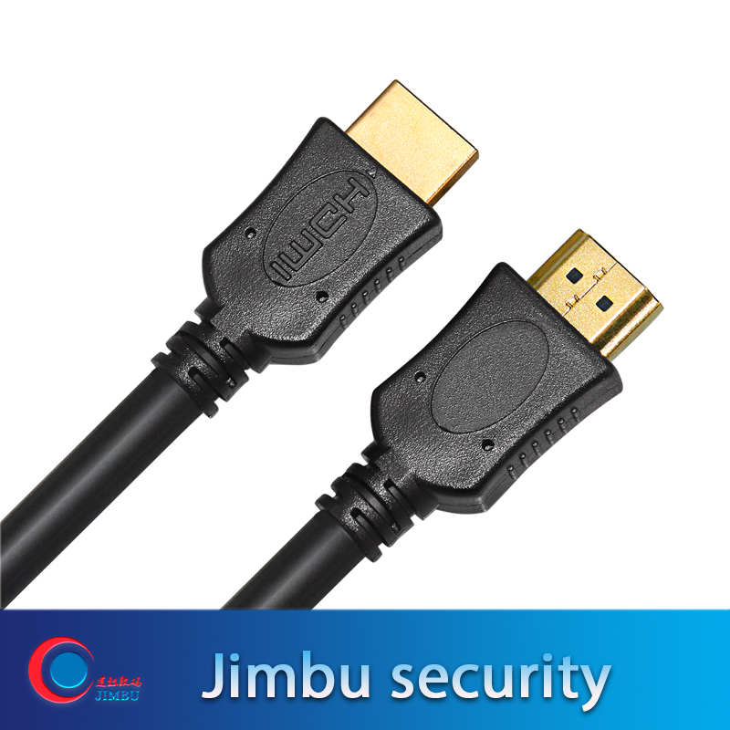 High Speed HDMI Cable HD Plug Iron Shell / Terminal Gold Plated PVC Outer Molding 19 Core 30AWG Pure Copper Conductor 3D 4K