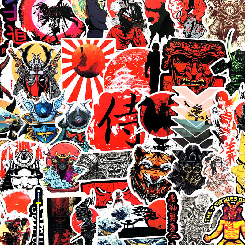 65pcs Bushido Kanji Japan Karakter Mode Waterdichte Stickers Voor Auto Body Decal Koffer Laptop Motorhelm stickers