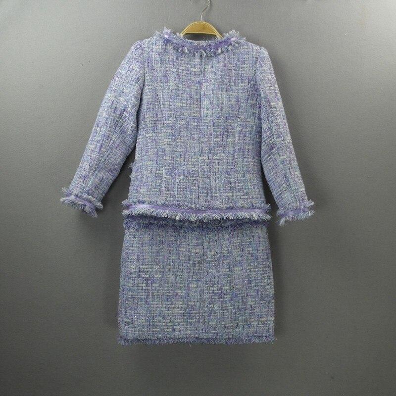 High Quality Luxury Womens Sets 2020 New Fashion Womens Plaid Coat Slim Fit Vest Dress 2 Piece Set Elegant Ladies Tassel Outfits