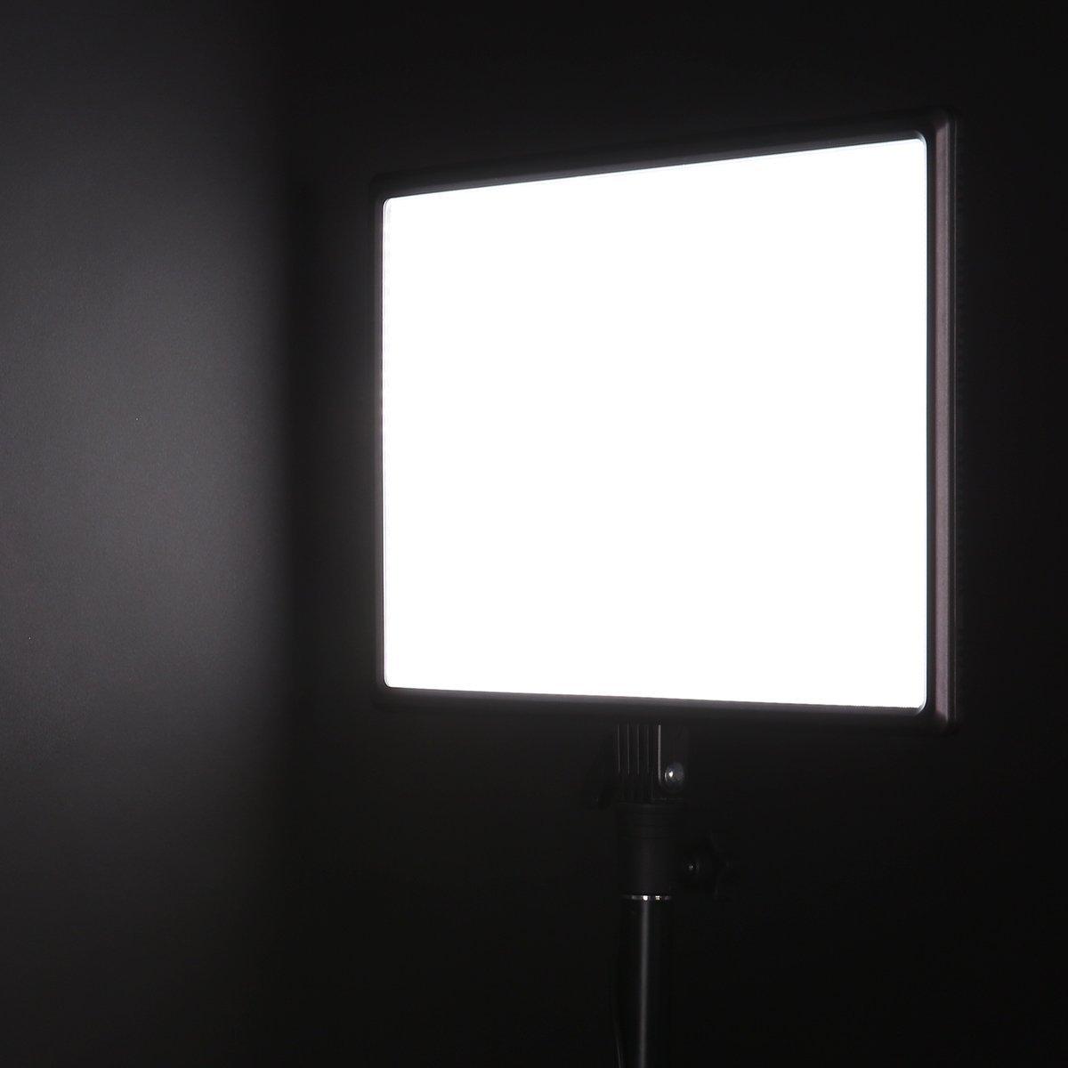 Nanguang CN-Luxpad43 Dimmable 3200 K-5600 K LED LED vidéo lumière pour Canon Panasonic Sony Samsung et Olympus Reflex numériques - 3