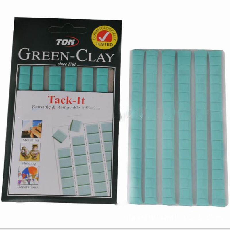 Многофункциональная клейкая глина Tack It, многоразовый клей для дома, офиса, школы, съемные клейкие пластины 75 г, 120 шт., синий