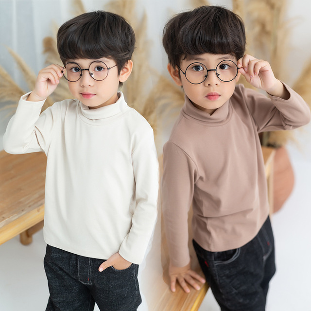 Boys Shirts Long-Sleeves Tops Clothing Toddler Autumn Kids Cotton Child for Tee 2-3-4-5-6-Years