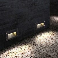 벽 램프 3W 내장 된 LED 조명 recessed 매장 된 플로어 램프 방수 IP54 야외 풍경 계단 조명 지 하 빛