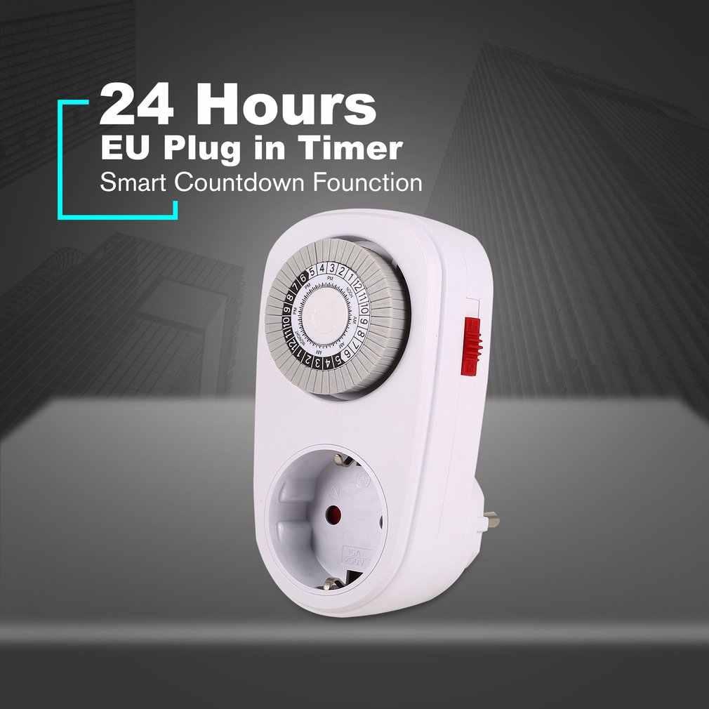 24 heures branchez le commutateur de minuterie Programmable mis à la terre mécanique