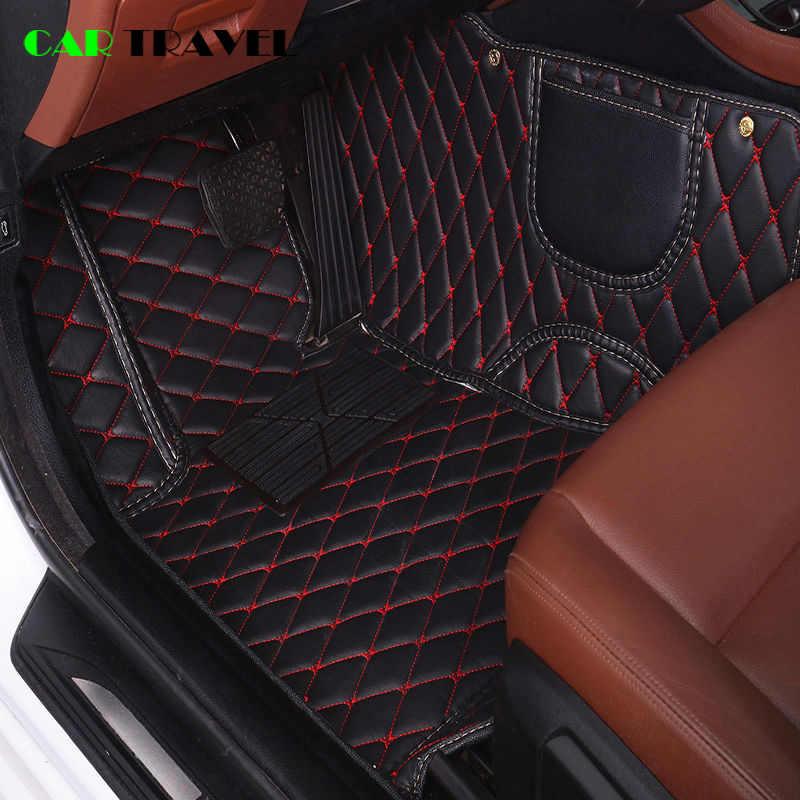 Esteira do assoalho do carro de couro Personalizado Para Kia Rio K3 K5 K7 Soul Sportage Cerato forte Opirus Optima Sorento Carens Carnival bongo3