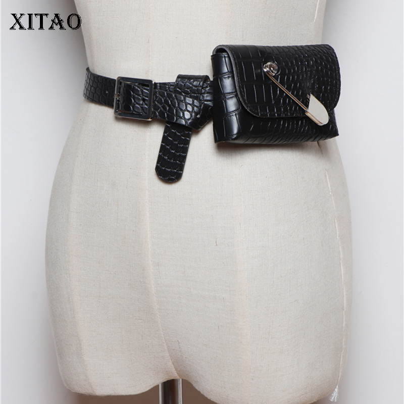 XITAO Vintage Female Pin Cummerbunds Women Fashion New 2019 Autumn Detachable Belt Mini Bag Cummerbunds Elegant Minority XJ2394