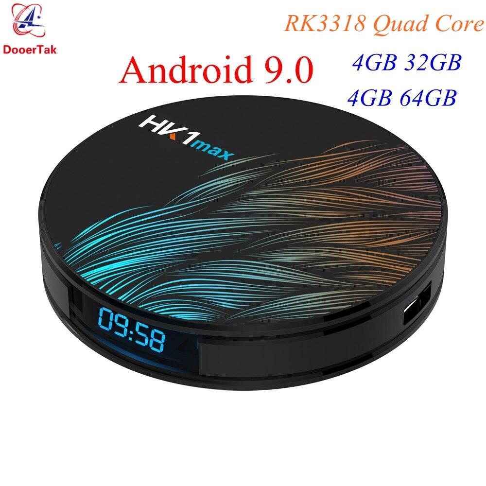 5pcs Android 9 0 TV BOX HK1 MAX 4GB DDR3 32GB 64GB RK3318 Quad core 2