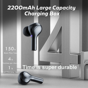 Image 5 - 278 tws bluetooth 5.0イヤホンワイヤレスヘッドフォン9Dステレオスポーツ防水ヘッドセット耳栓マイク2200mah充電ボックス