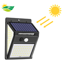 140 LED Outdoor Solar Security Light PIR Motion Sensor Wall Light Waterproof Solar Lamp Powered Sunlight Garden Decoration