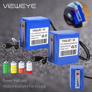 Image 3 - ViewEye pack de batterie Lithium 12V professionnel, avec indicateur 4500mAh/6400mAh pour détecteur de poisson, caméra vidéo de pêche sous marine