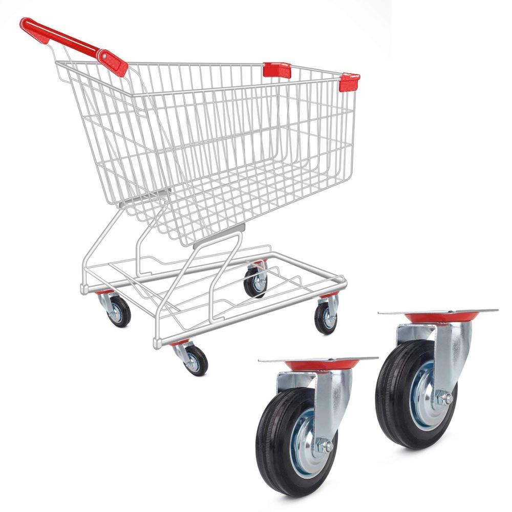 4pcs 8pcs 12pcs Swivel Caster Furniture Wheels Trolley Heavy Duty 160mm 210Kg Furniture Trolley Wheel Rubber Brake Trolley Wheel
