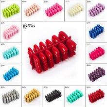 20 cores opcionais 600 unidades/pacote suqare dicas de unhas falsas capa completa 10 tamanhos com extra nr 5 e nr 6