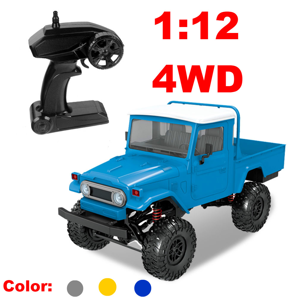 1//12 Scale 2.4G 4WD Rock Crawler Off-road Vehicle RC Car DIY Toy Truck Gift Toy