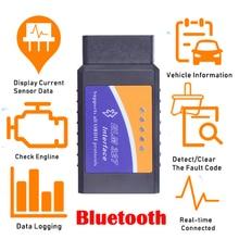 Herramienta de diagnóstico automático de coche, accesorio ELM327 V1.5 PIC18F25K80 Obd2 escáner Bluetooth ELM 327 V1.5 V2.1 OBD 2 OBD2, lector de código ODB2