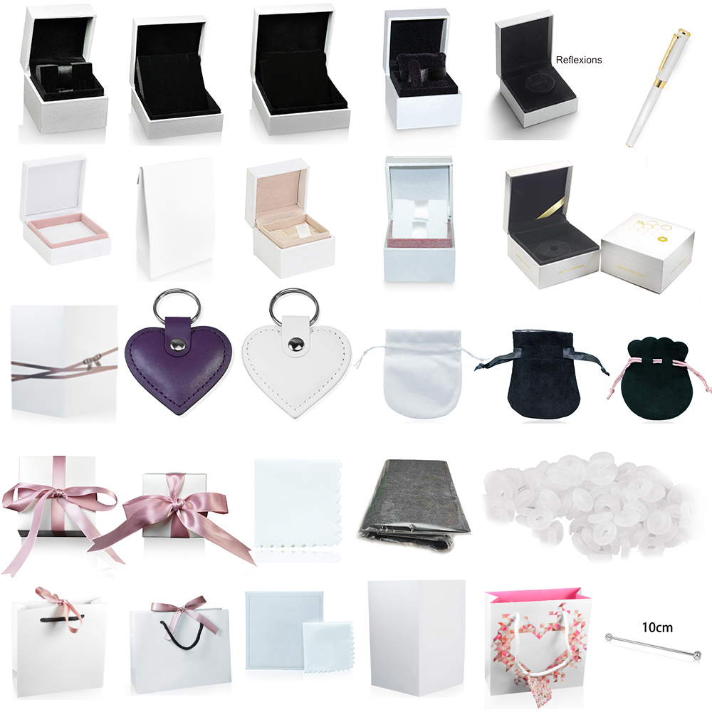 High-quality Boxes Charm Ring Earrings Bracelet Necklace Jewelry Protection Box Guarantee Gift Bag Card Accessories Keychain Pen