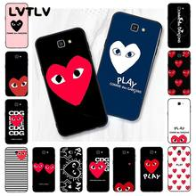 LVTLV Newest Love CDG Play Like Boys Phone Case For Samsung Galaxy J7 J6 J8 J4 J4Plus J7 DUO J7NEO J2 J5 Prime(China)