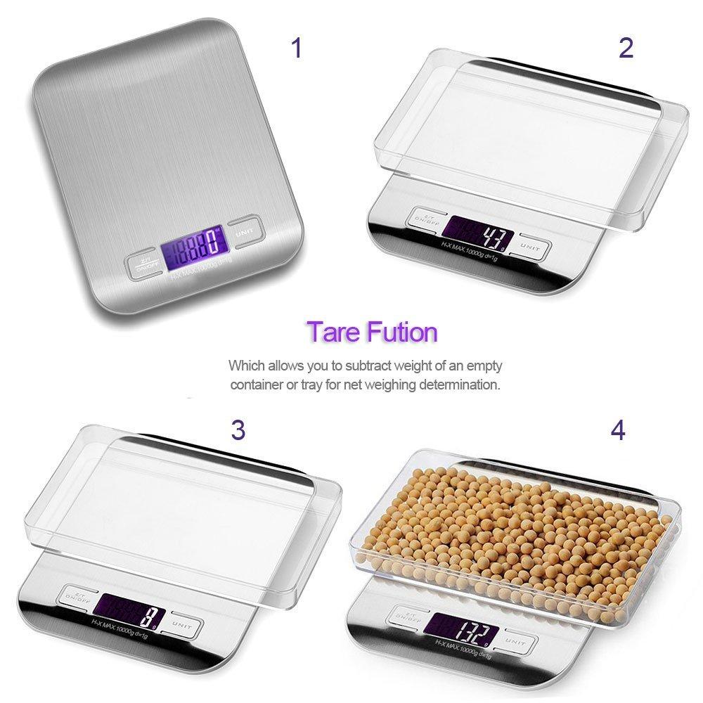 Бытовые кухонные весы, электронные на 5 кг/10 кг 1 г с тонким ЖК-дисплеем для кухни, почты-3