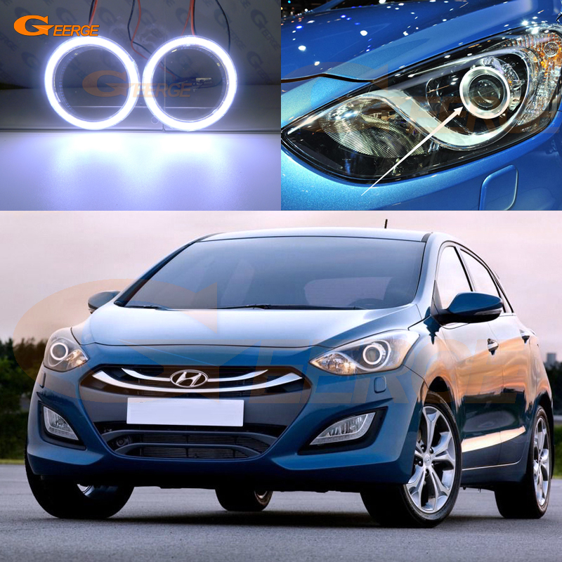 Excellent COB Led Angel Eyes Kit Halo Rings Ultra Bright For HYUNDAI I30 GD 2011 2012 2013 2014 2015 2016 Projector Headlight