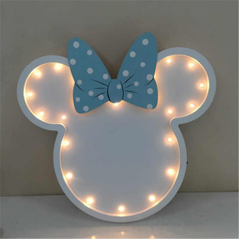 Disney Minnie kafa LED gece lambası çocuk odası masa lambası duvar asılı dekorasyon karikatür duvar lambası X4829