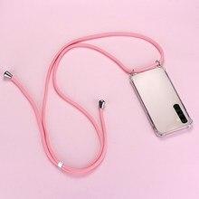 De Lujo Cordón de la caja del teléfono de silicona para Realme 7 6 5 5i 3 2 X50 XT X2 X Lite Pro C11 C3 C2 Q Ultra-delgada collar cuerda cubierta Coque