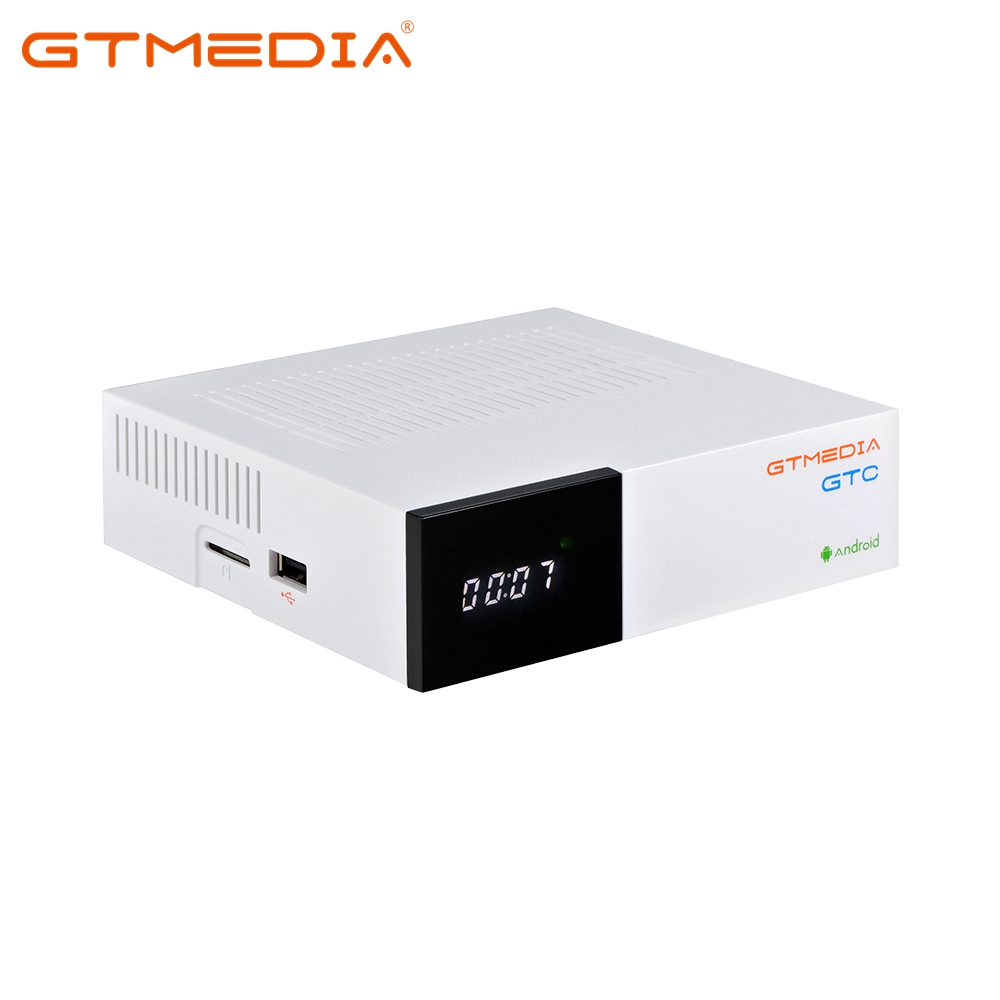 GTmedia GTC Smart <font><b>Android</b></font> <font><b>TV</b></font> <font><b>BOX</b></font> <font><b>DVB</b></font>-S2/<font><b>T2</b></font>/Cable/ISDBT Amlogic S905D 2GB 16GB 1080P HD Satellite Receiver Support CCCAM IPTV M3U image