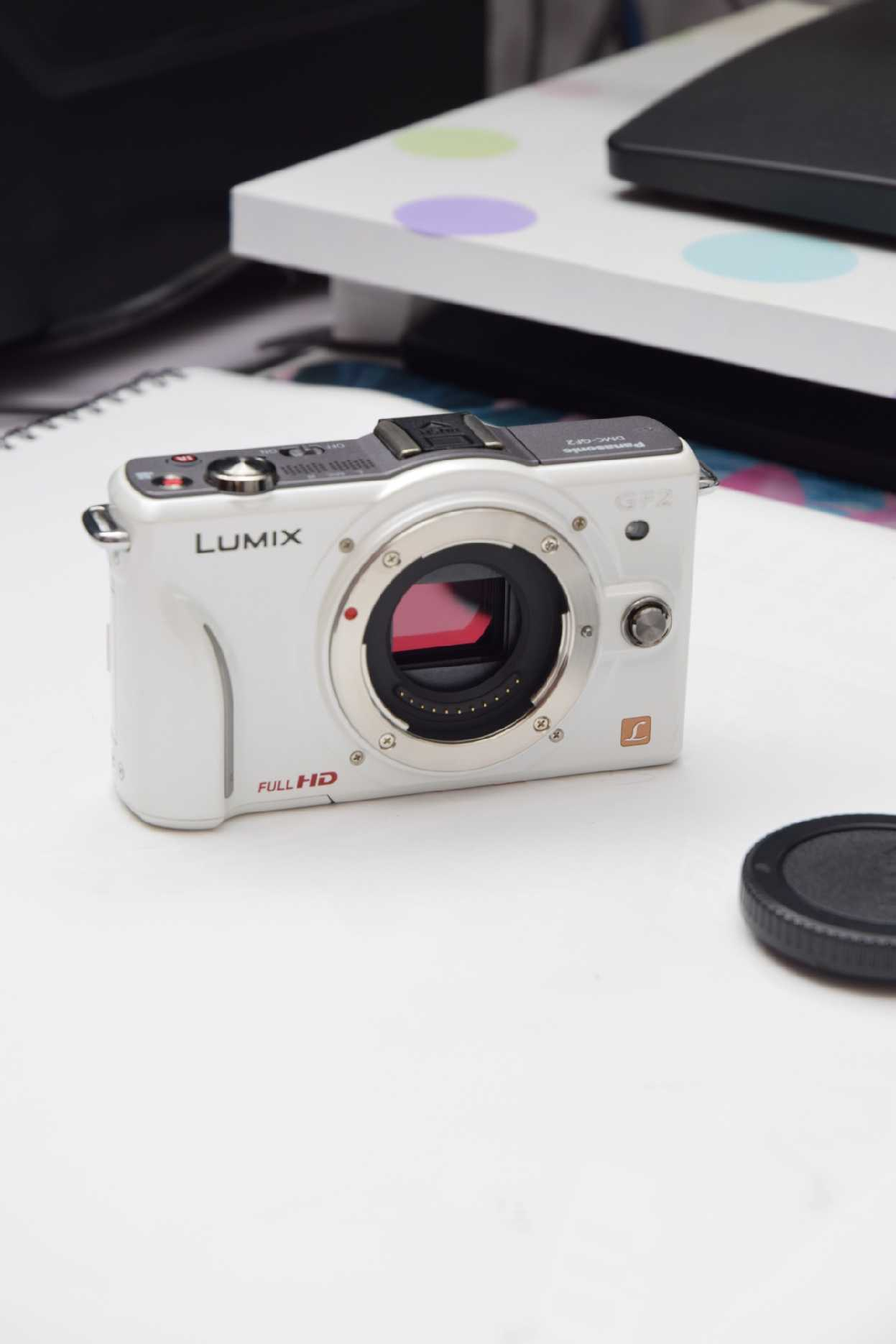 H00ea12b74e4448f58212ca2a557280481 USED,Panasonic GF2 12.1MP  Digital Camera with 3-inch LCD(NO LENS OR WITH LENS)