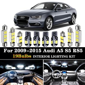 цена на 19pcs Canbus Error Free LED Bulb Interior Dome Trunk light kit package for 2009-2015 Audi A5 S5 RS5 sportback Car Light Source