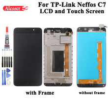 Alesser ل TP Link Neffos C7 شاشة الكريستال السائل و شاشة تعمل باللمس الجمعية إصلاح أجزاء أدوات لاصق للهاتف TP Link Neffos C7