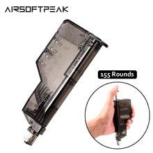 Страйкбол быстрая скорость BB погрузчик для 155 циклов большой емкости Пейнтбол Аксессуар для наружной охоты стрельбы или боевой войны игры