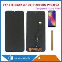 6 09 Zoll Für ZTE Klinge A7 2019 2019RU P963F02 LCD Display Mit Touch Screen Digitizer Sensor Mit Gehärtetem Glas Film und Band