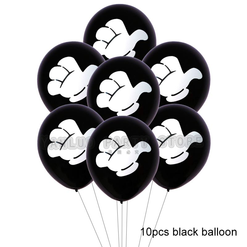 10pcs Mickey Mouse Party Latex Balloons For Adult Birthday Party Decorations 2