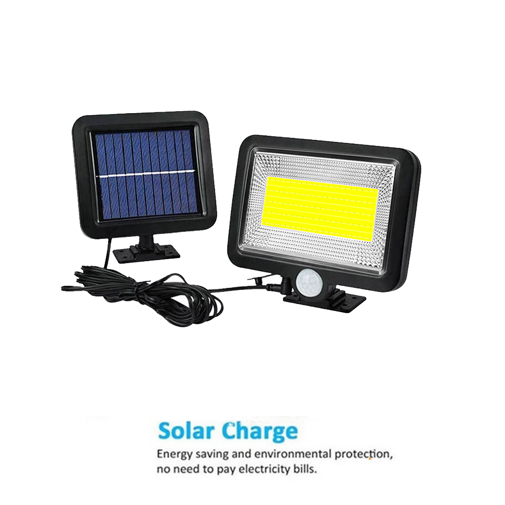 PIR Solar Powered Outdoor Motion Sensor Security 56/30LED Light Ip65 Waterproof & Heatproof Garden Wall Lighting Lamp (Black) Sp