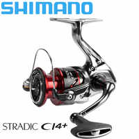 SHIMANO stradic ci4 Spinning Fishing Reel 1000/2500/C3000/4000 6+1BB AR-C Spool SeaWater Fishing Reel