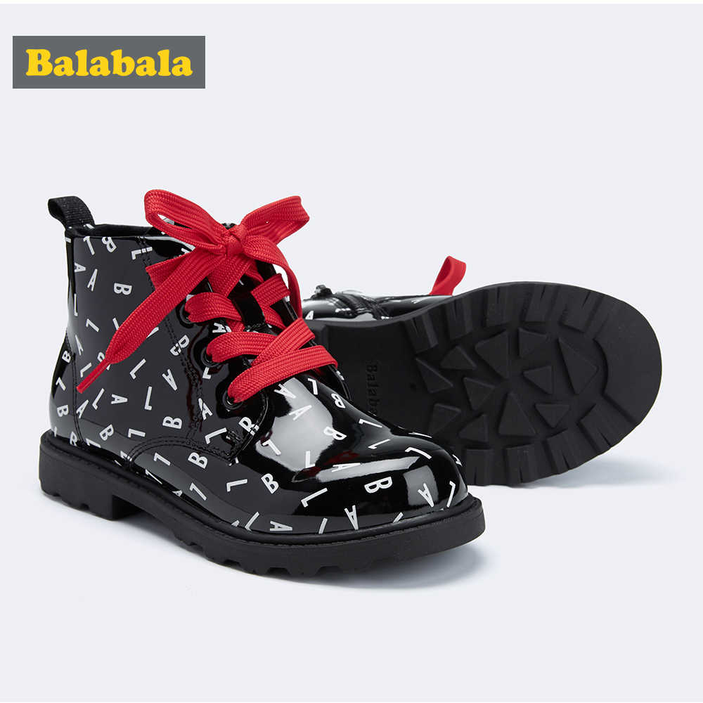 Balabala 2019 Meisjes Martin Laarzen Schoenen Voor Meisjes Kinderen Laarzen Mode Zachte Bodem Meisjes Laarzen antislip Kids Sneakers
