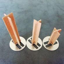 Mecha de vela central de madera Natural artesanal, 10 Uds., con lengüeta de soporte, mecha, núcleo para fabricación de velas, suministro de cera de Parffin de soja