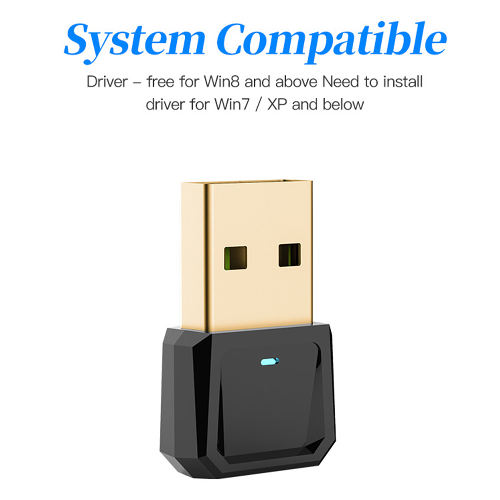 5.0 3Mbps <font><b>PC</b></font> Headsets Tablet Printer Office Mouse For Desktop Home Computer Transmitter Laptops Speaker <font><b>Bluetooth</b></font> USB <font><b>Adapter</b></font> image