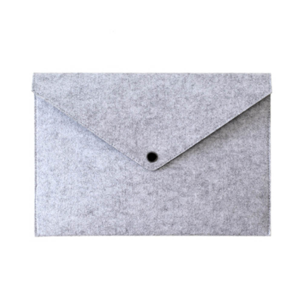 Simple Solid A4 Big Capacity Document Bag Business Briefcase File Folders Felt Filing Bags EM88