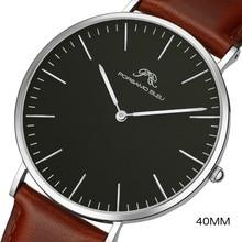 Dial 40mm męski prosty zegarek mody DW sam stal nierdzewna 316L japoński ruch Shiying
