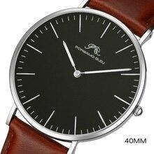 Dial 40mm relógio de moda simples masculino dw mesmo 316l aço inoxidável japonês shiying movimento