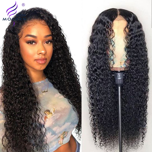 Modern Show Hair 30 inch 4X4 Lace Closure Wig Brazilian 13X6 Lace Front Human Hair Wigs Remy 150% Desnity HD Lace Frontal Wigs(China)
