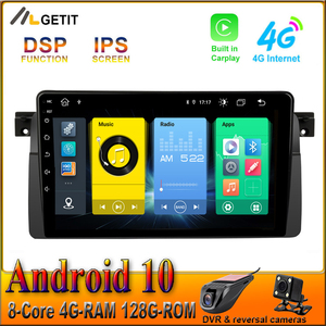 128G CARPLAY DSP 9 inch Android 10 Car GPS for BMW E46 M3 Car Radio Multimedia Stereo BT Wifi