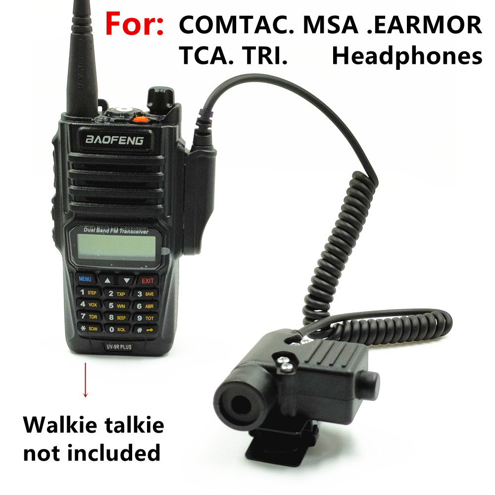 Tactical U94 PTT Headset Accessory PTT For COMTAC MSA EARMOR TCA TRI Headphones For BAOFENG  UV-XR A58 UV9R UV-9R Plus Radio
