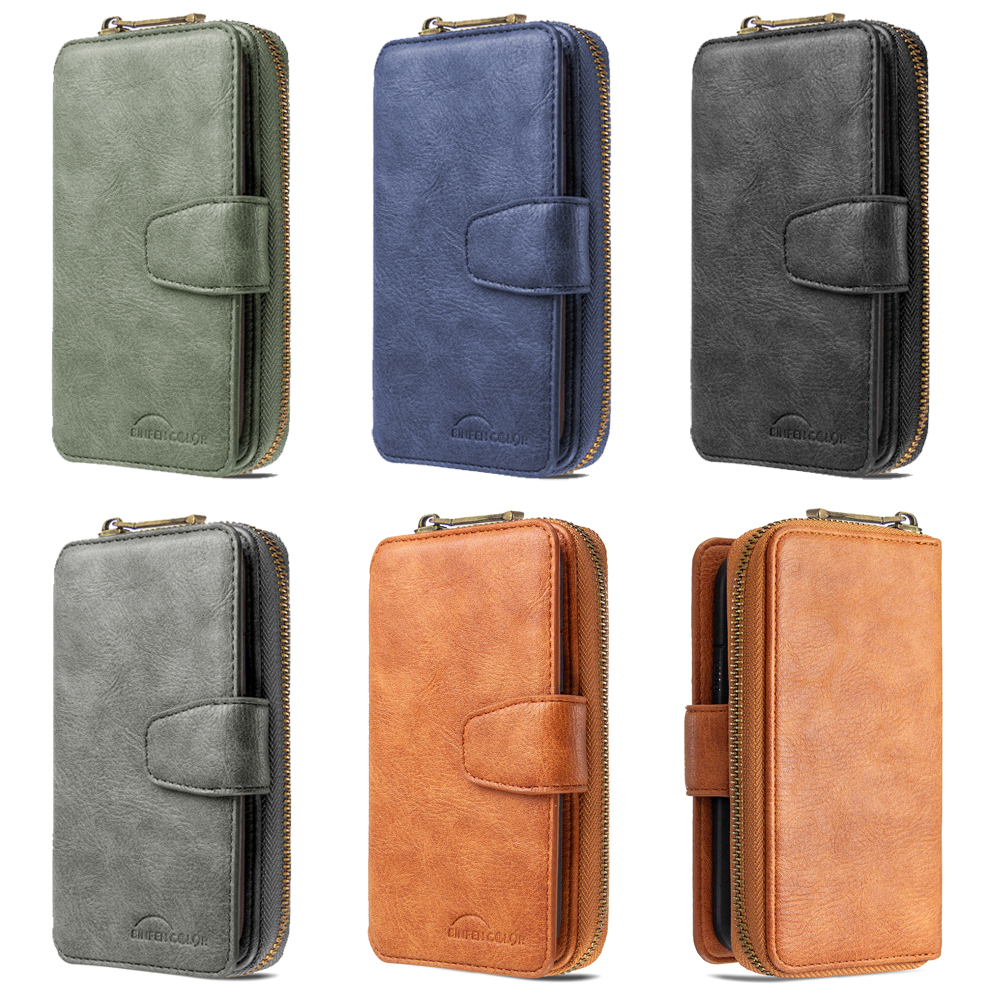 Leather Case For Samsung Galaxy S20 Ultra S10 S9 Plus Note10 Lite Pro S10E Magnetic Phone Cover Flip Etui Wallet Card Slot Coque