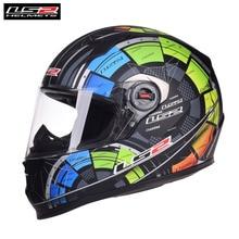 LS2 FF358 Motorcycle Helmet Full Face Motorbike Men Racing Casque Moto Casco Cap