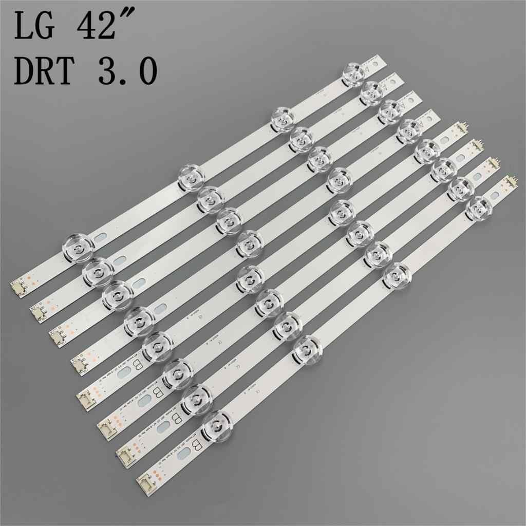 Nuevo 8 unids/set de reemplazo de tira LED para LG LC420DUE 42LB5500 42LB5800 42LB560 INNOTEK DRT 3,0 42 pulgadas A B 6916L-1710B 6916L-1709B