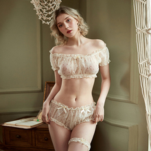 בציר פרחוני סקסי פיג מת חולצות מכנסיים קצרים הלבשה תחתונה סט לנשים גזה מודפס פרח ראפלס Kawaii הלבשה תחתונה בגדי בית