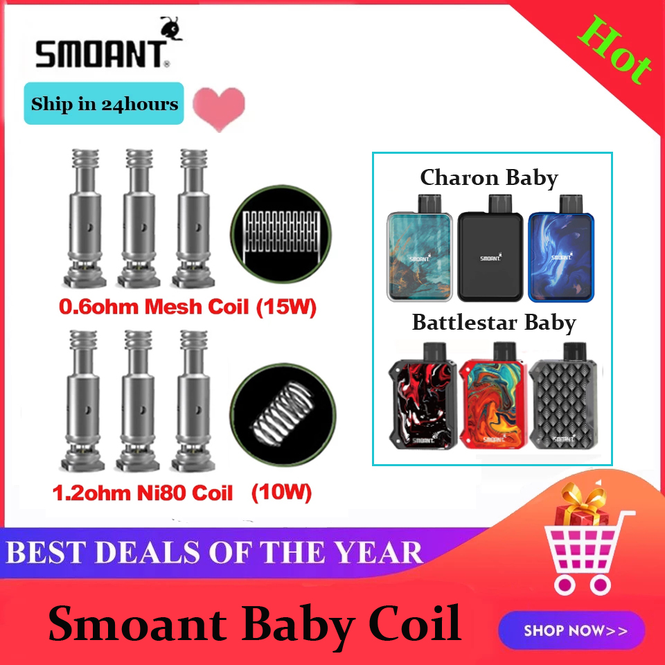 Smoant Charon Baby Battlestar Baby Coil Battery Accessories
