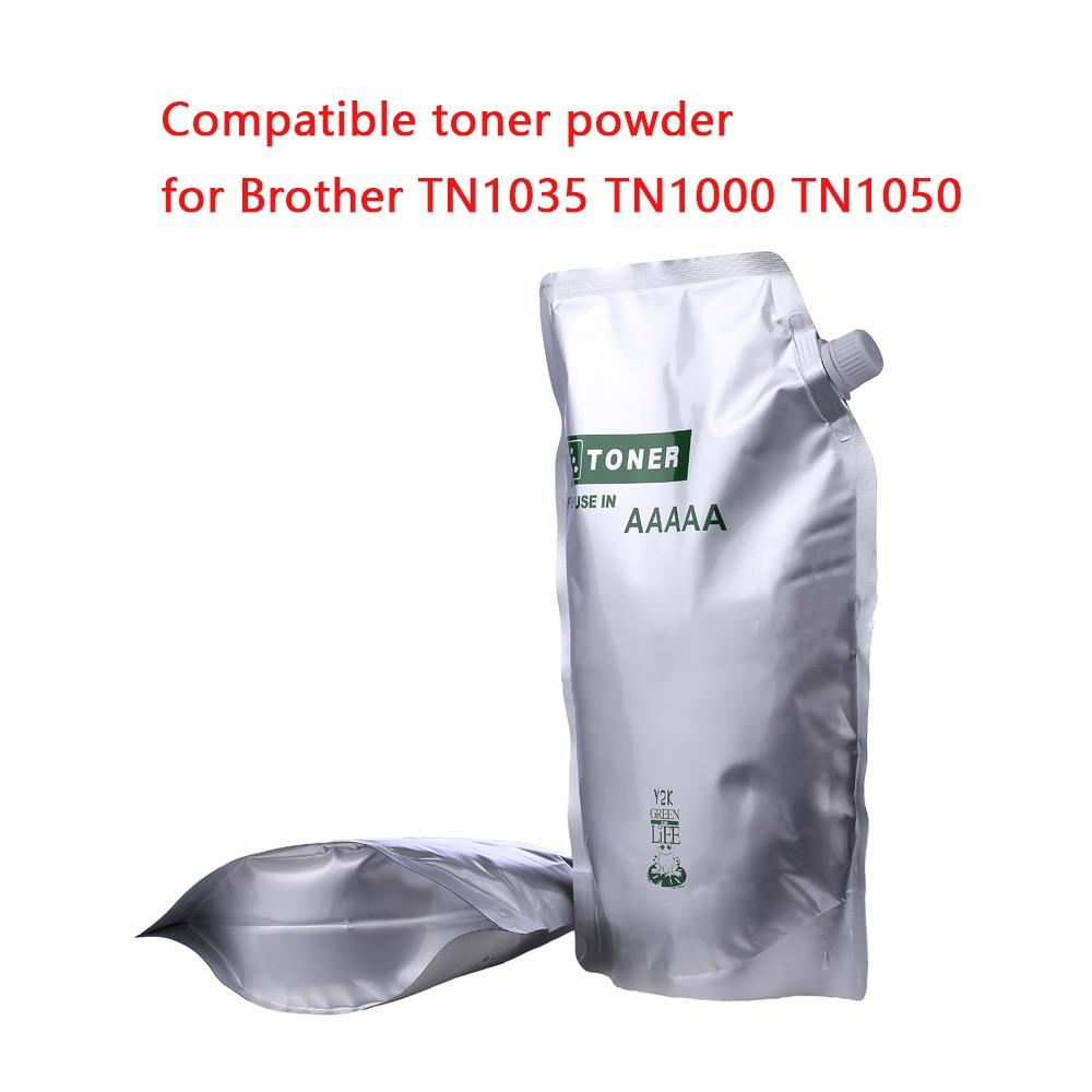 500G Black Toner Powder Compatible For Brother TN1000 TN1030 TN1050 TN1060 TN1070 Tone HL-1110 1112 1202R Printer